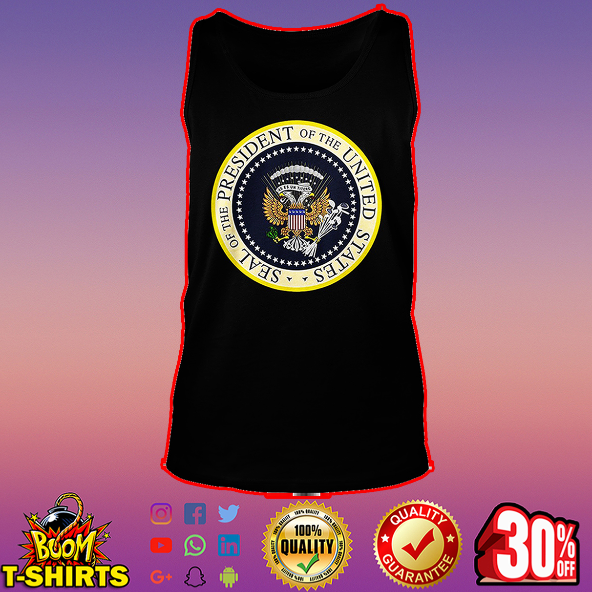 Seal of the president of the US tank top