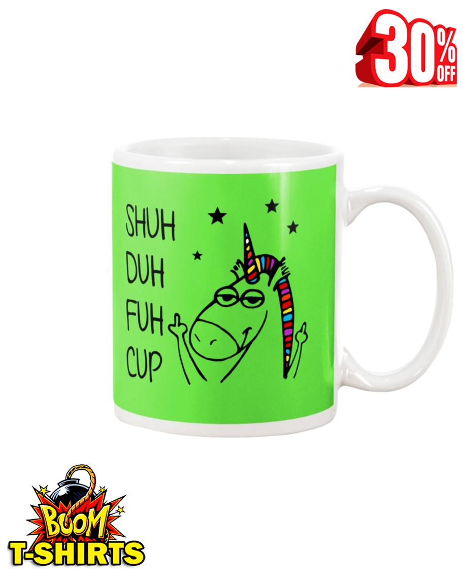Shuh duh fuh cup unicorn mug - kiwi