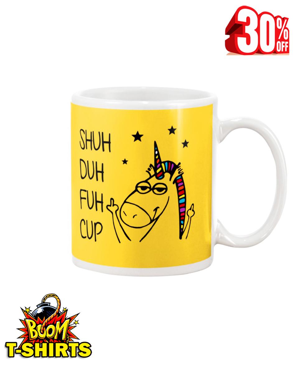 Shuh duh fuh cup unicorn mug - yeallow
