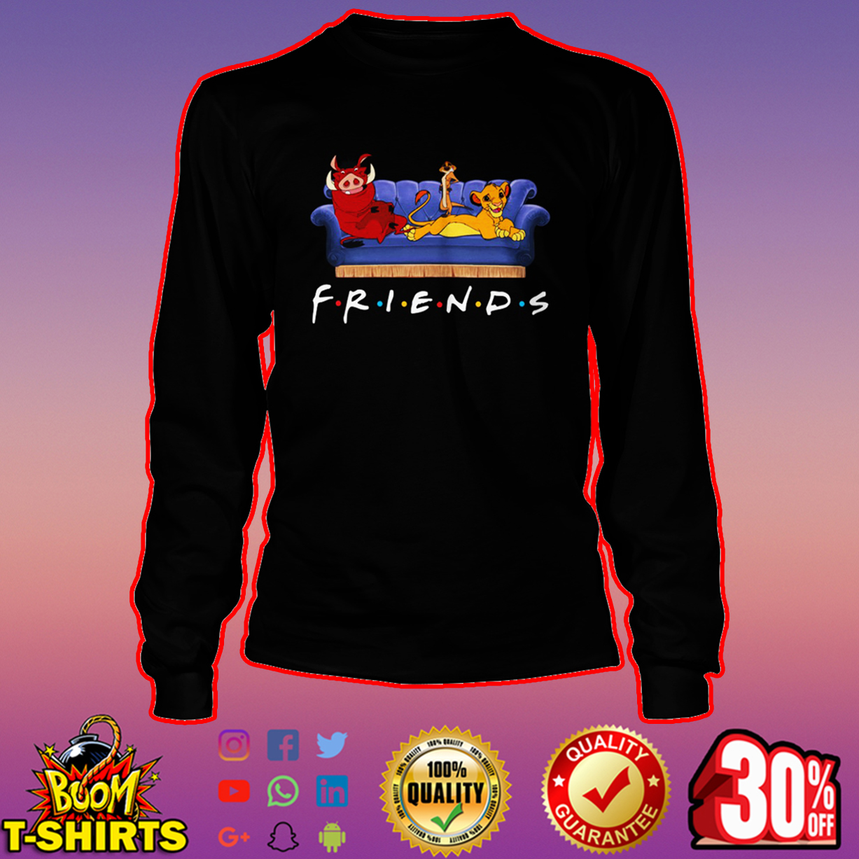 Simba Timon and Pumbaa friends long sleeve tee