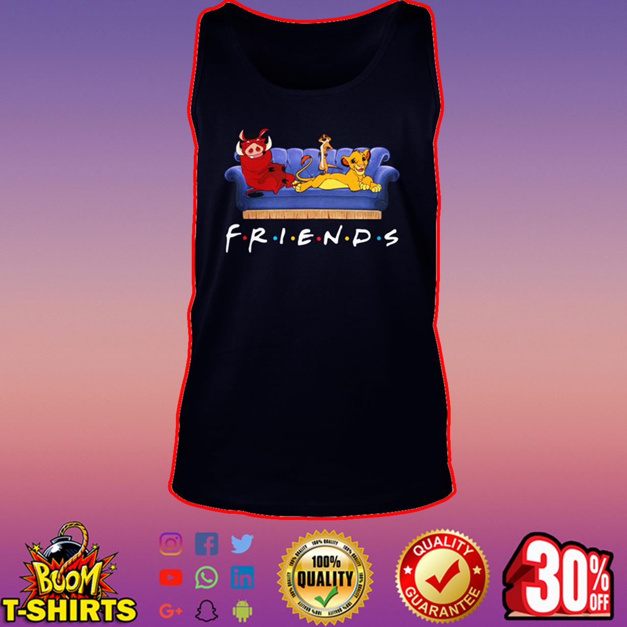 Simba Timon and Pumbaa friends tank top