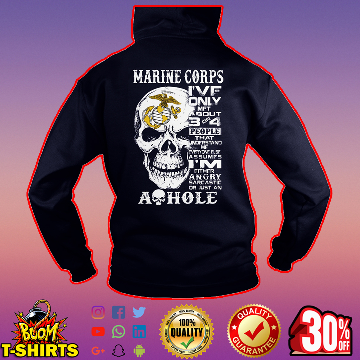 Skull Marine corps I've only met about 3 or 4 people hoodie