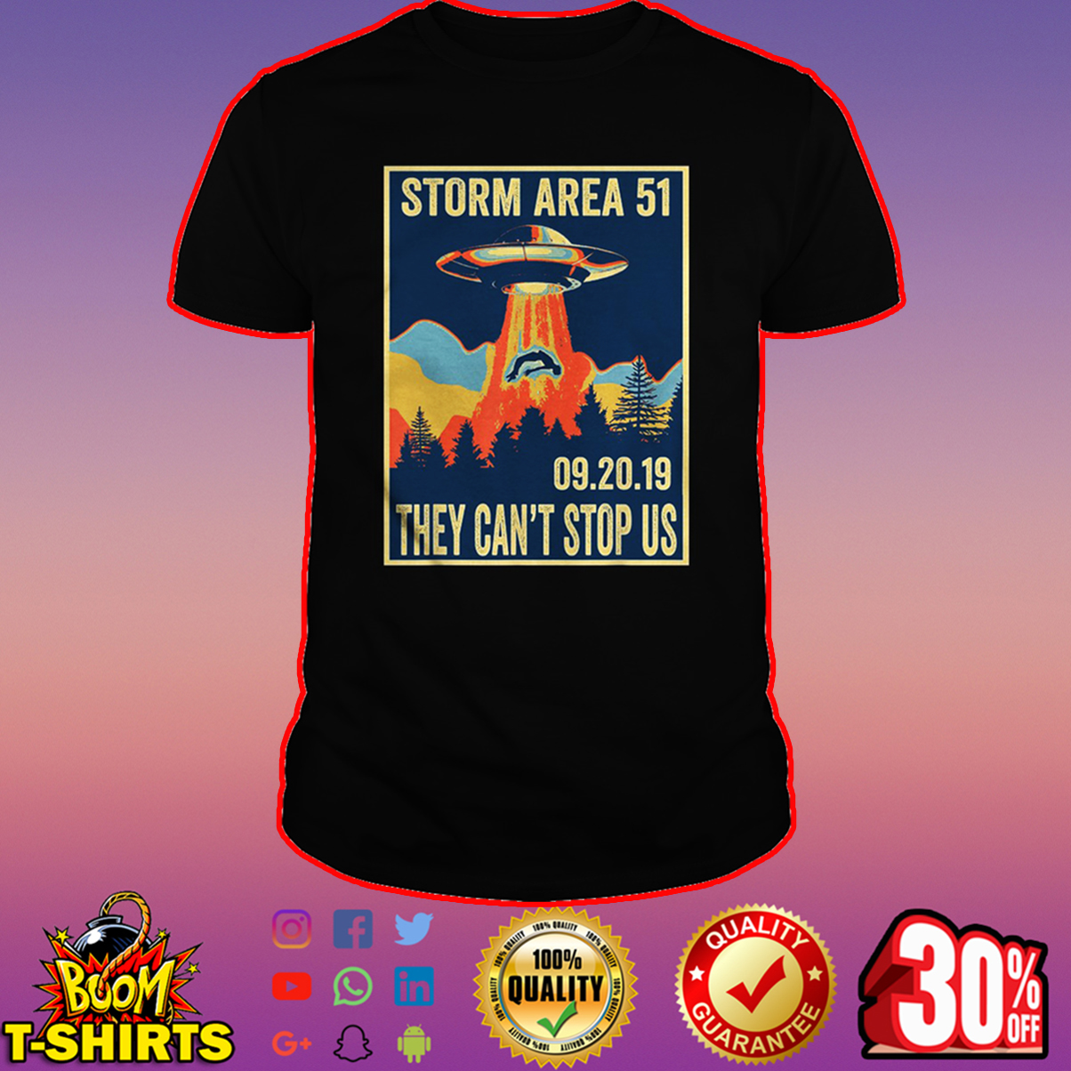Storm Area 51 They Can't Stop All Of Us September 20 2019 shirt