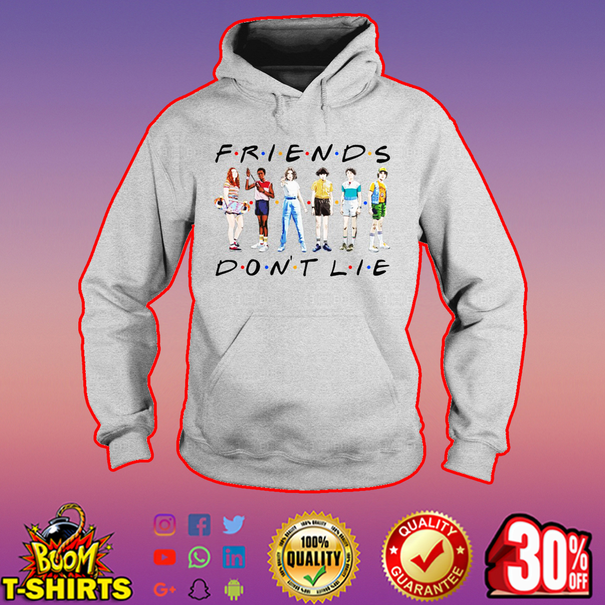 Stranger Things friends don't lie hoodie