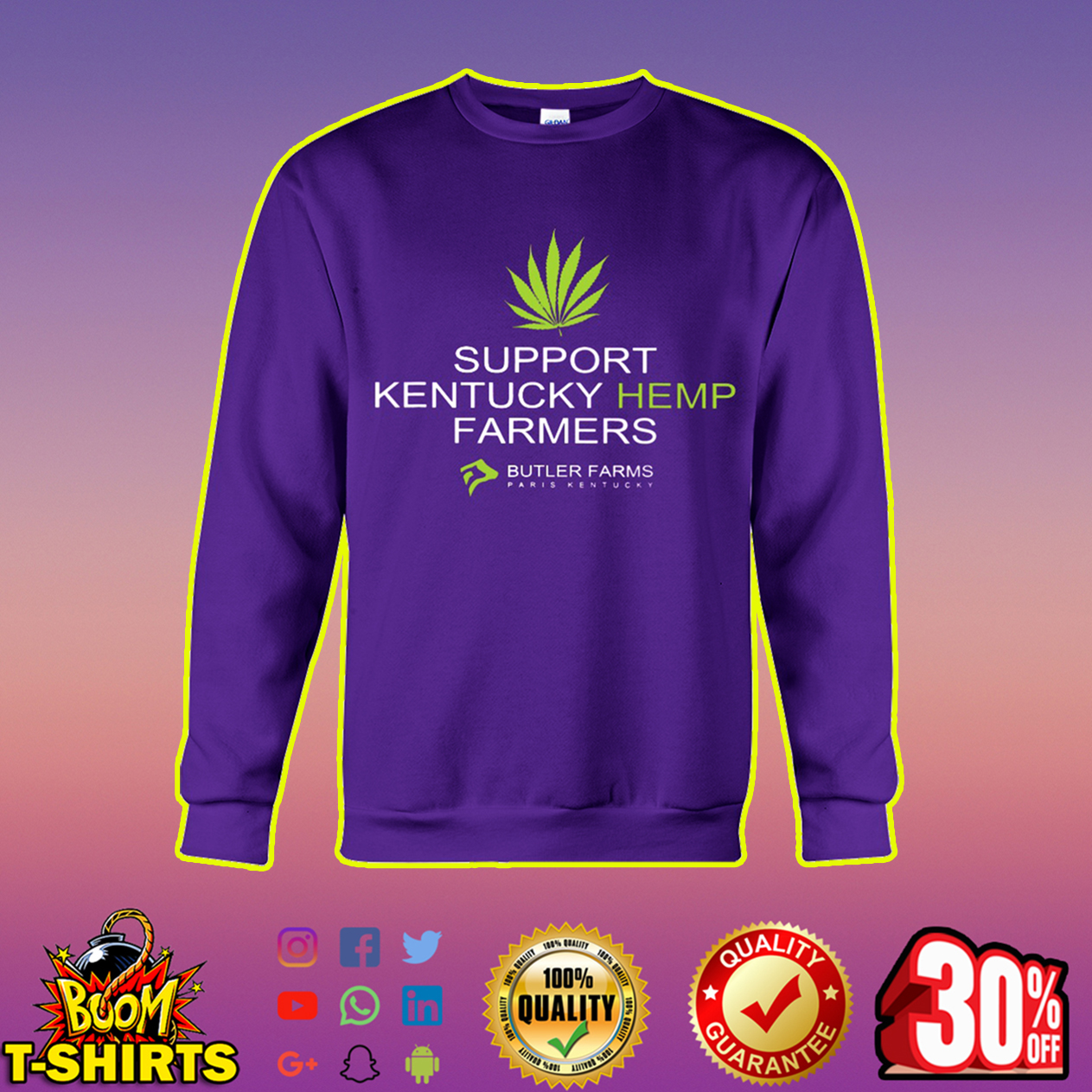 Support Kentucky Hemp Farmers sweatshirt