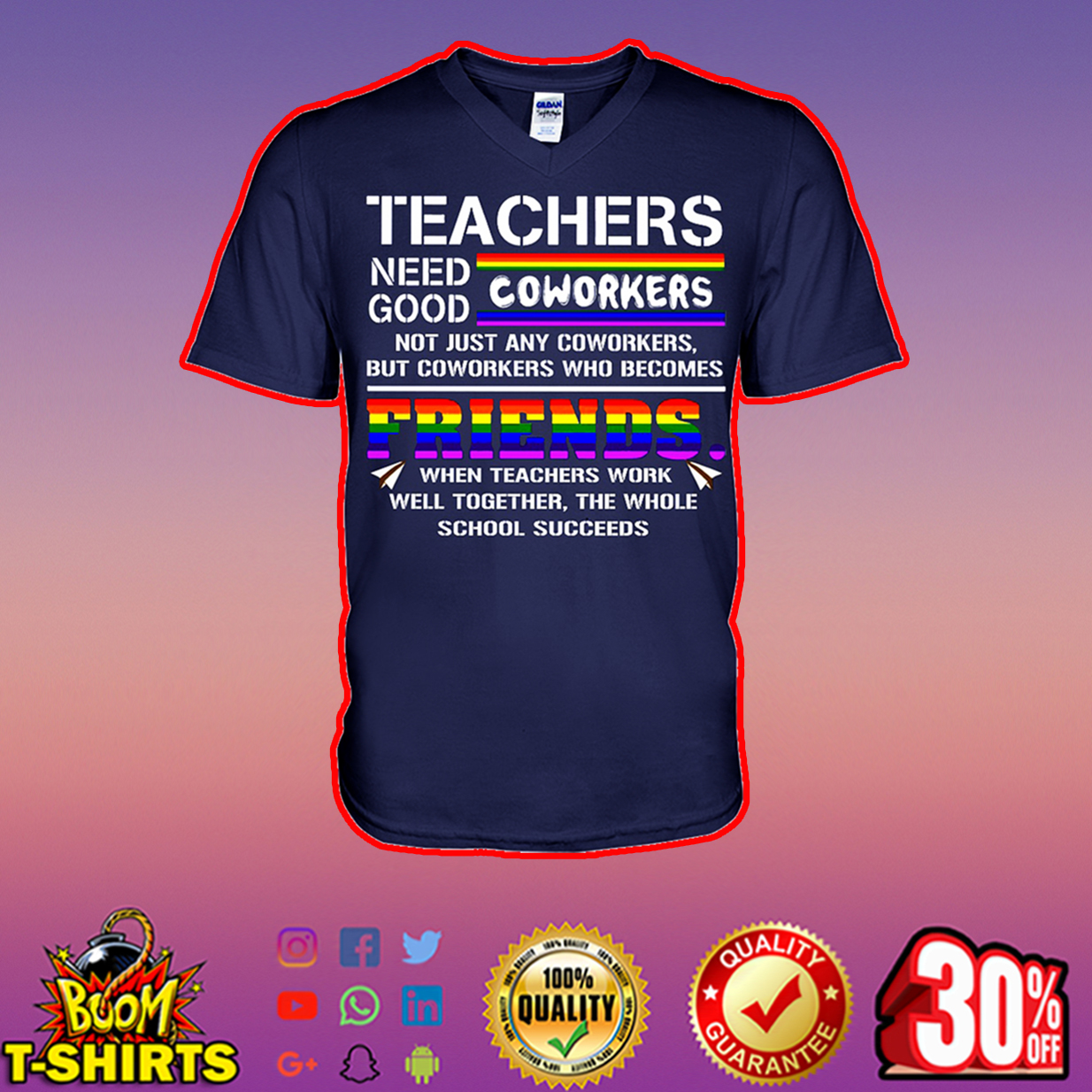 Teachers need good coworkers v-neck