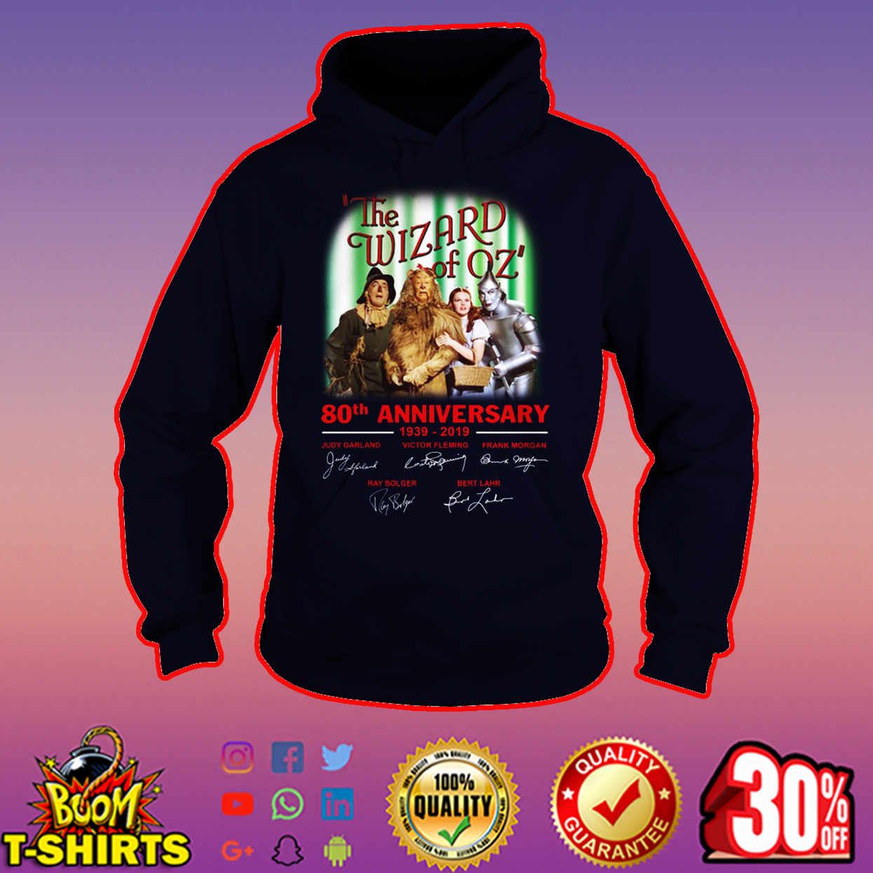 The Wizard of Oz 80th anniversary signature hoodie