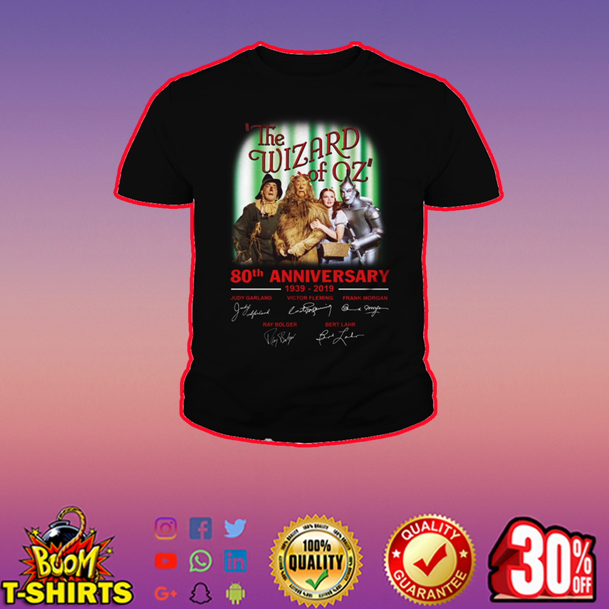 The Wizard of Oz 80th anniversary signature youth tee
