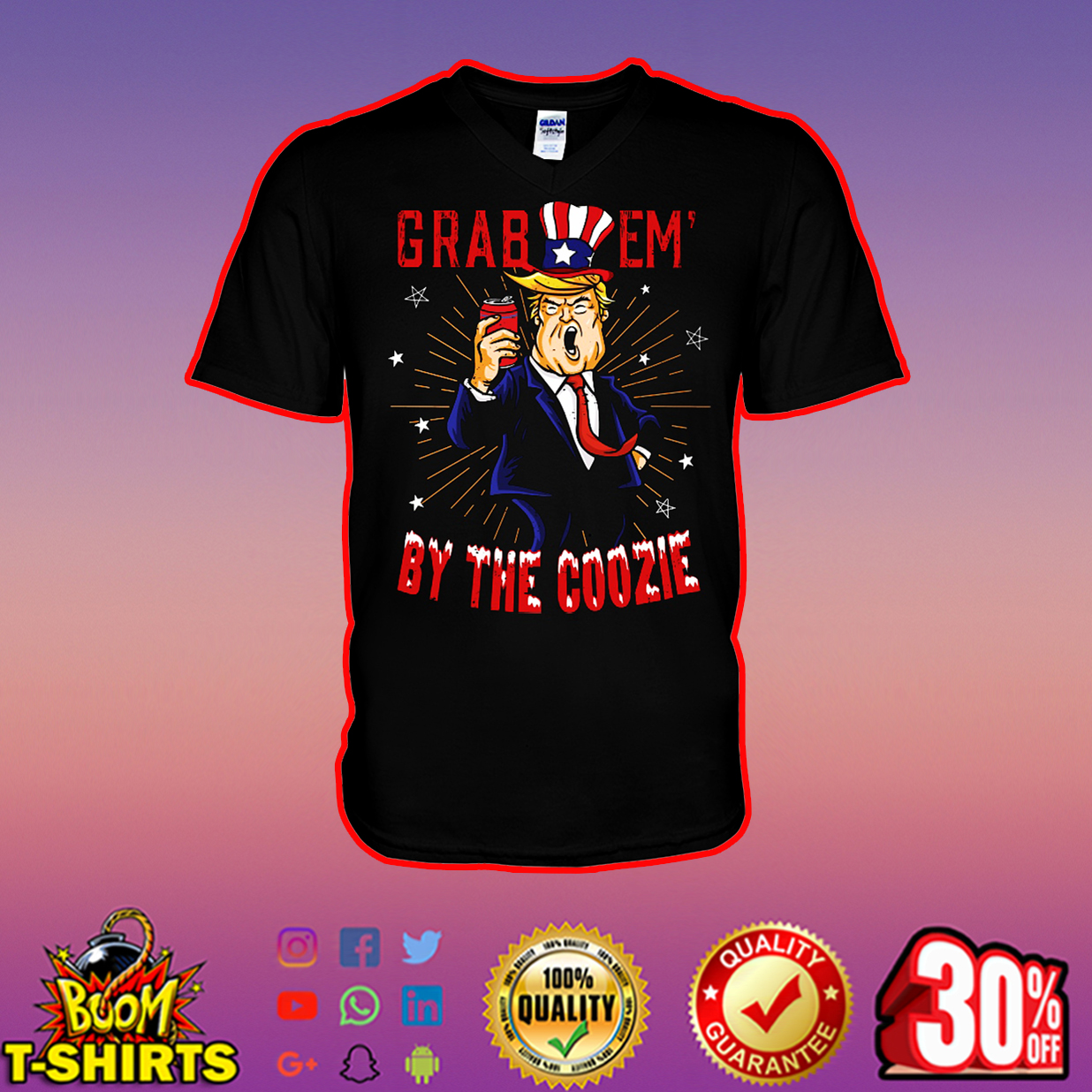 Trump grab em by the coozie v-neck