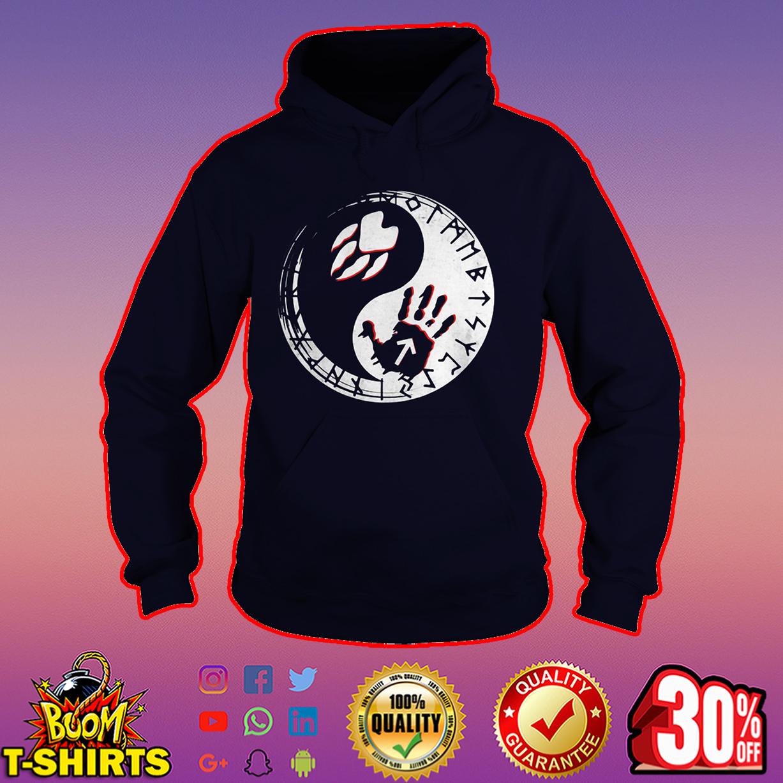 Tyr And Fenrir Fingerprints Yin and yang hoodie