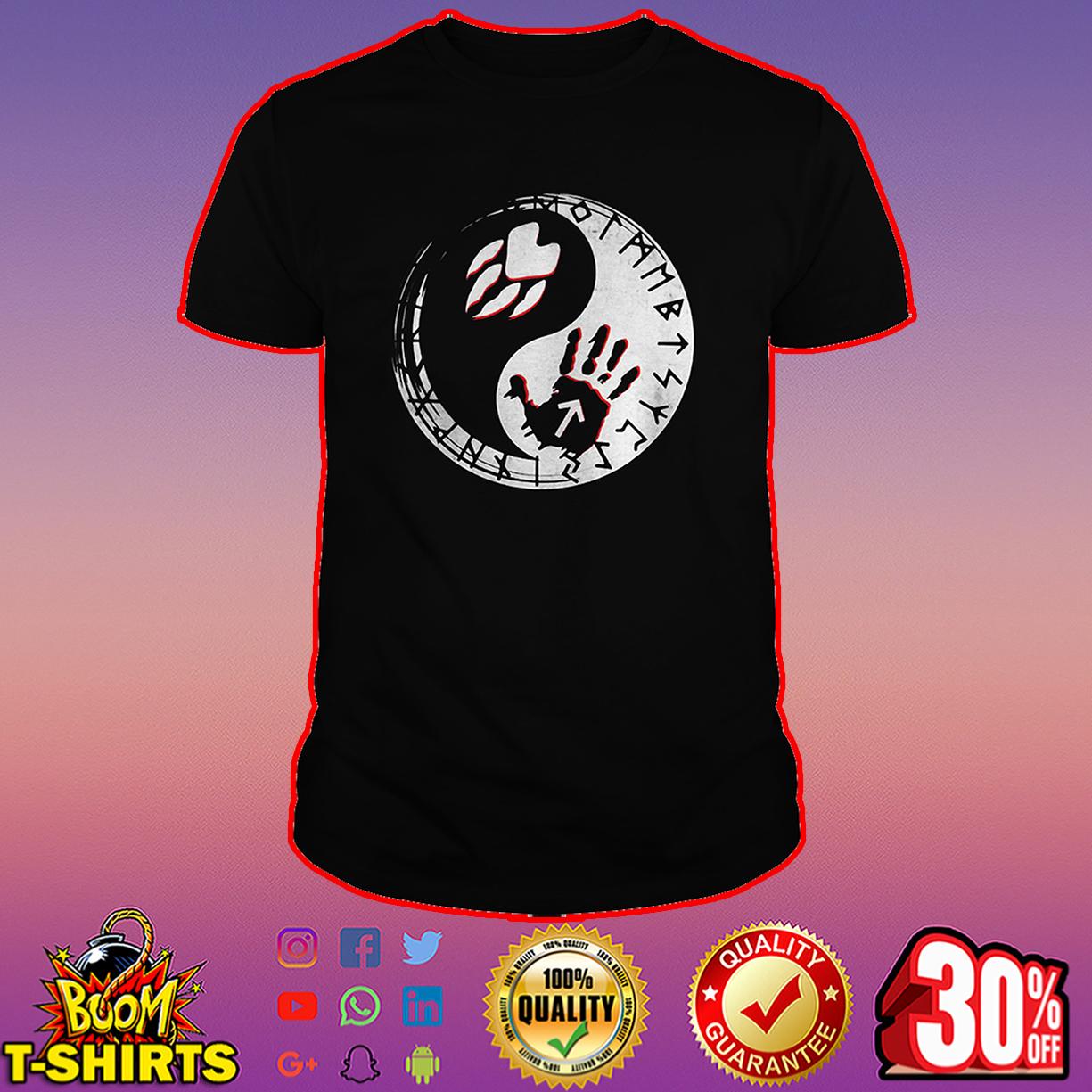 Tyr And Fenrir Fingerprints Yin and yang shirt