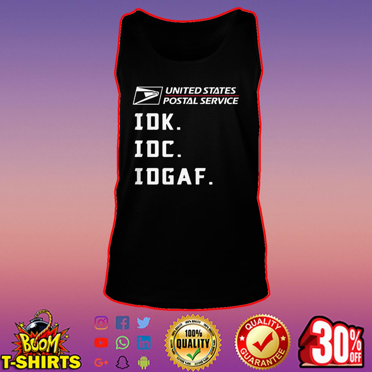 USPS IDK IDC IDGAF tank top