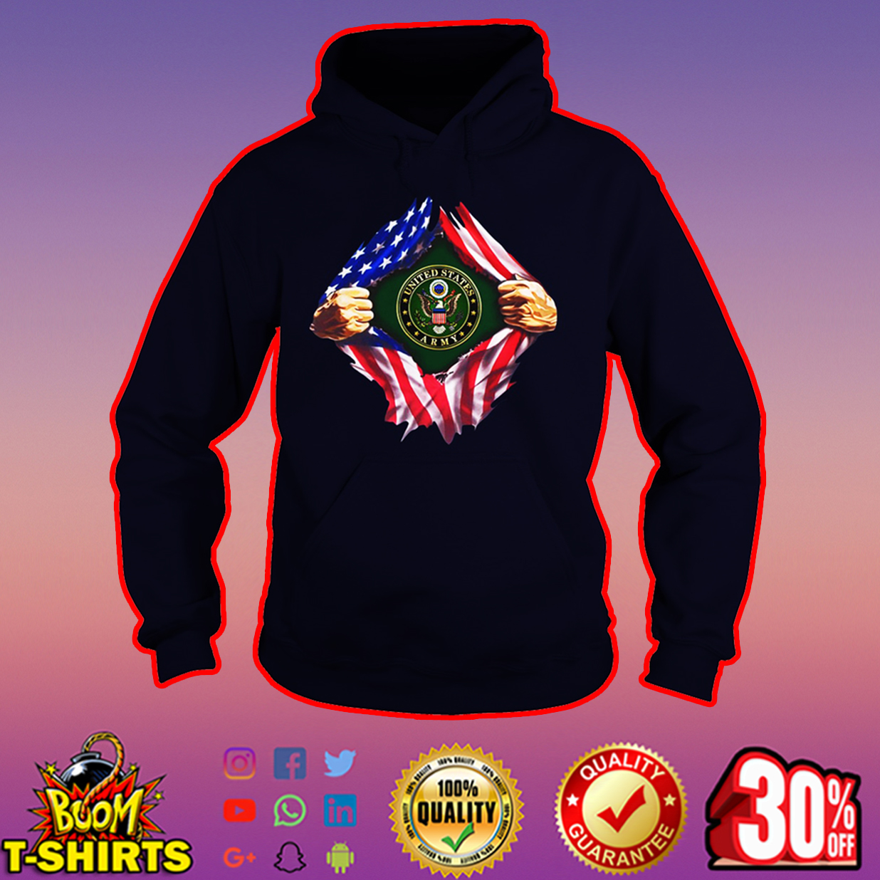 United States Army inside me hoodie