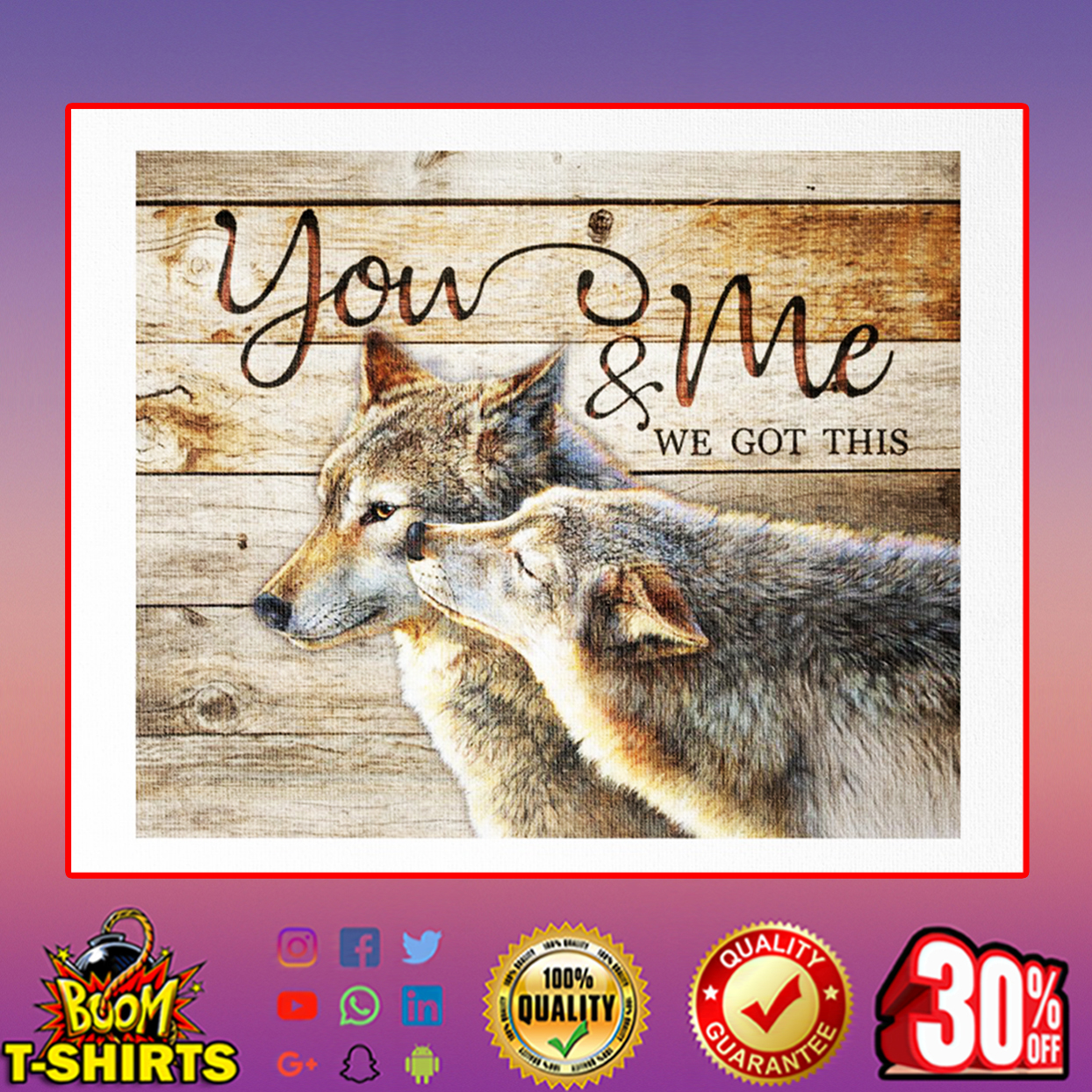 Wolf you and me we got this canvas