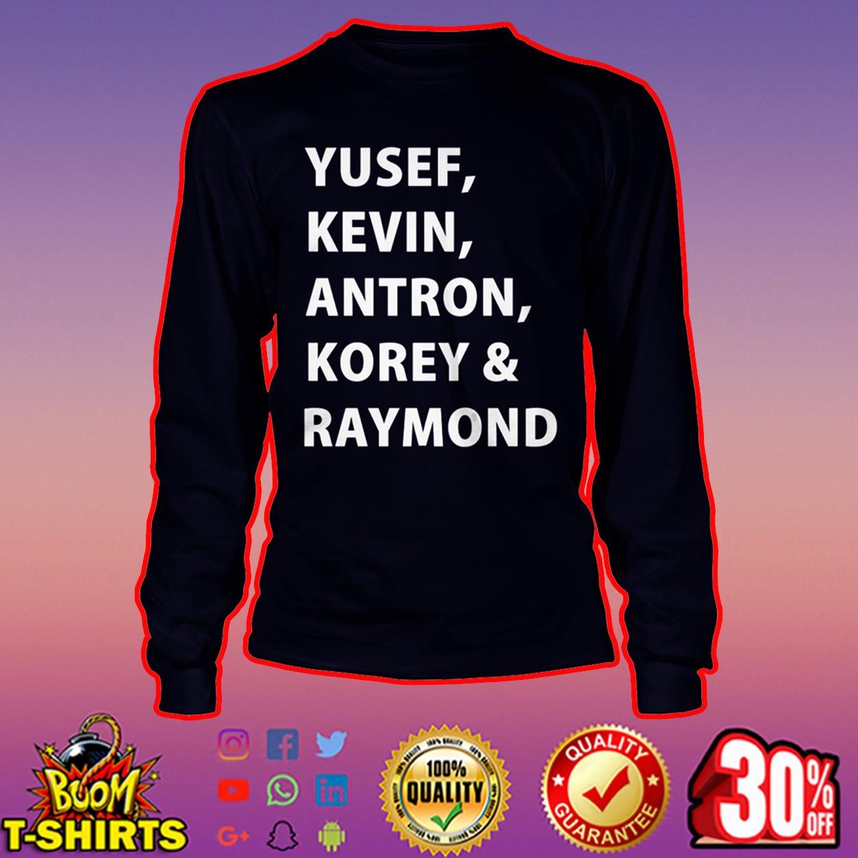 Yusef Kevin Antron Korey and Raymond long sleeve tee