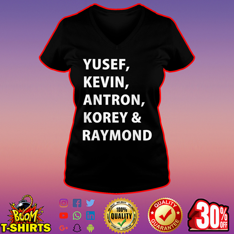 Yusef Kevin Antron Korey and Raymond v-neck