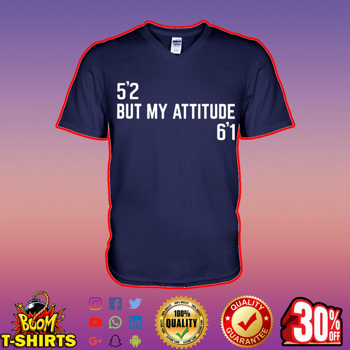 52 but my attitude 61 v-neck