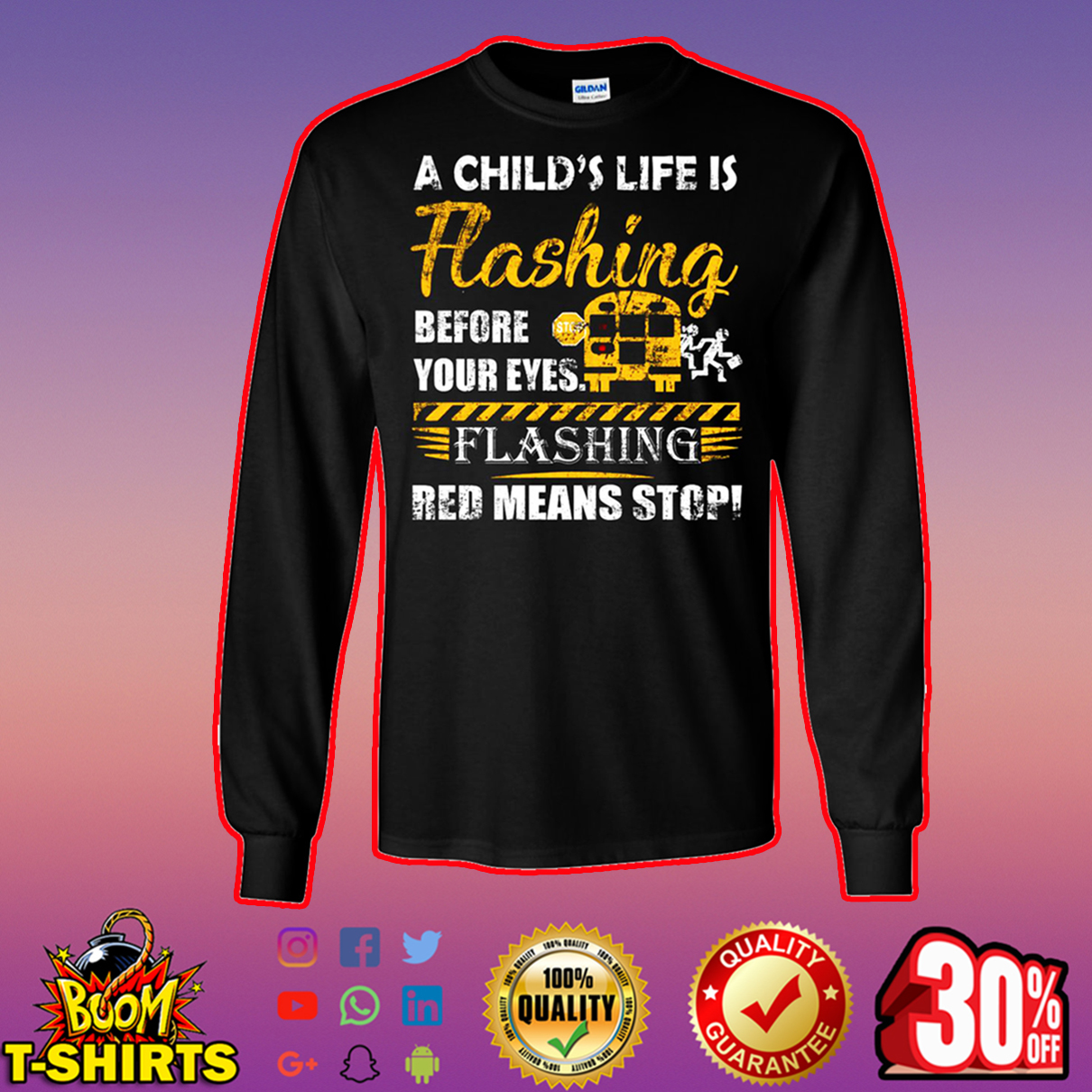 A child's life flashing before your eyes flashing red means stop long sleeves