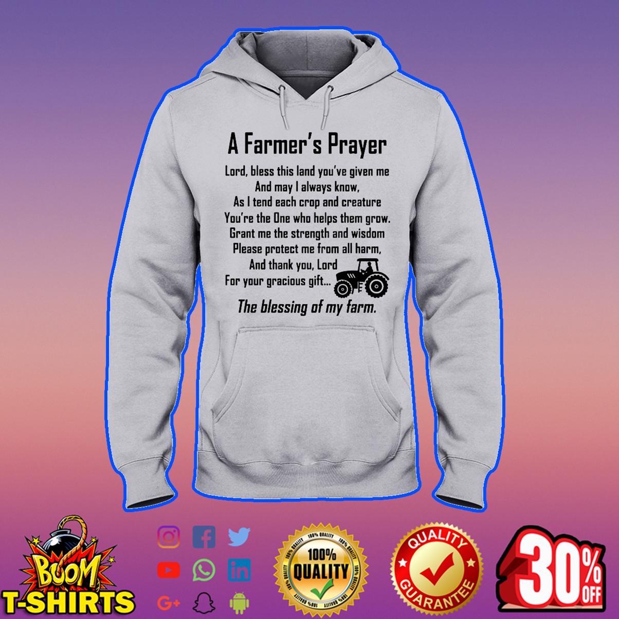 A farmer's prayer hooded sweatshirt