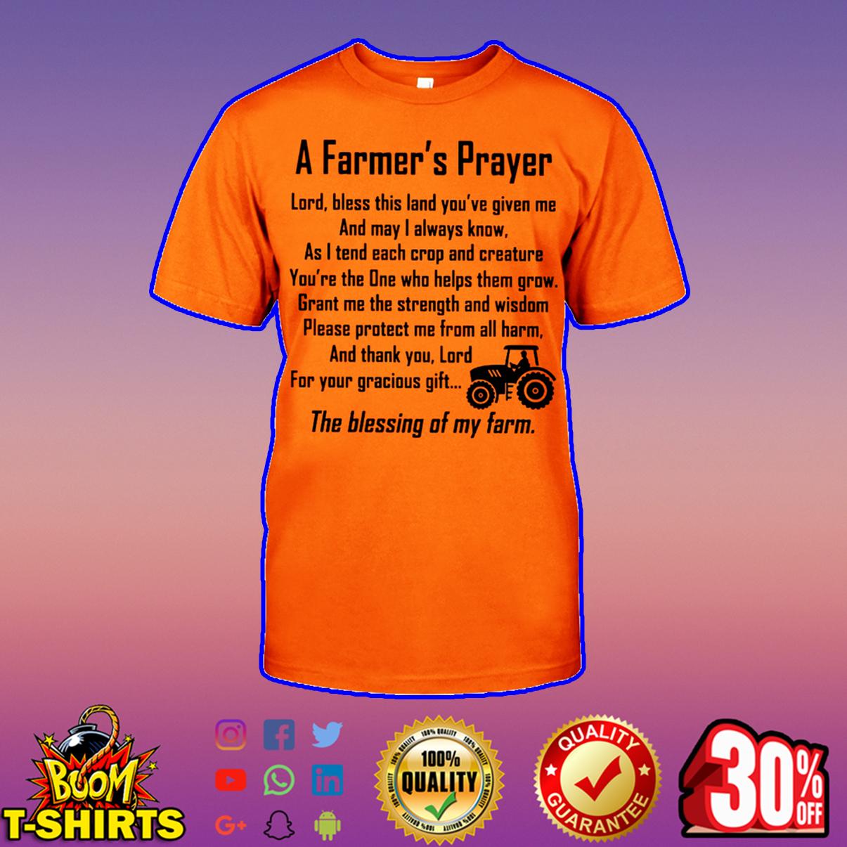 A farmer's prayer shirt