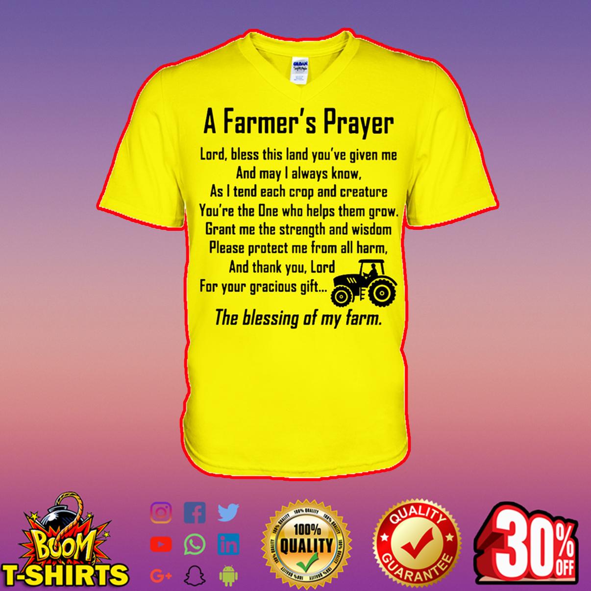 A farmer's prayer v-neck