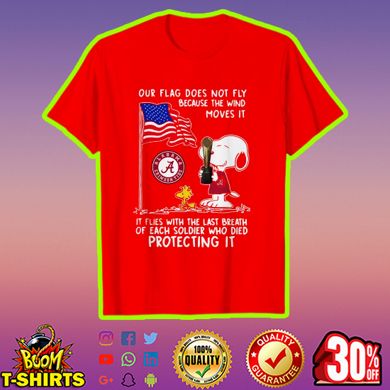 Alabama Snoopy and Woodstock our flag does not fly shirt