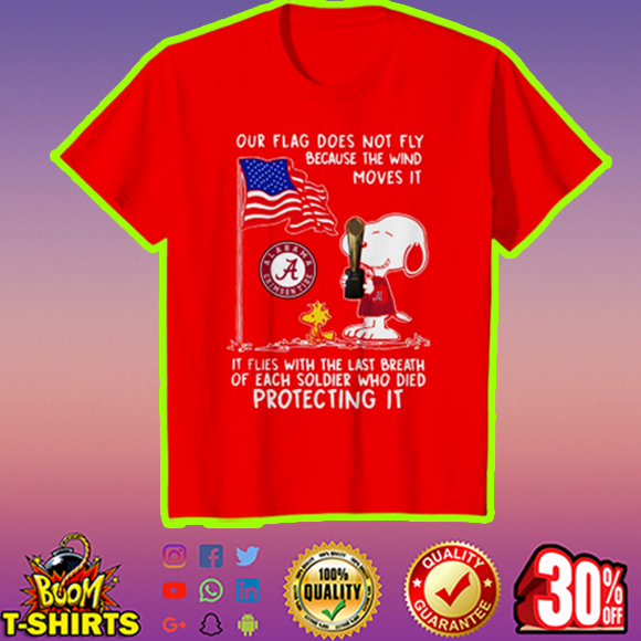 Alabama Snoopy and Woodstock our flag does not fly youth tee