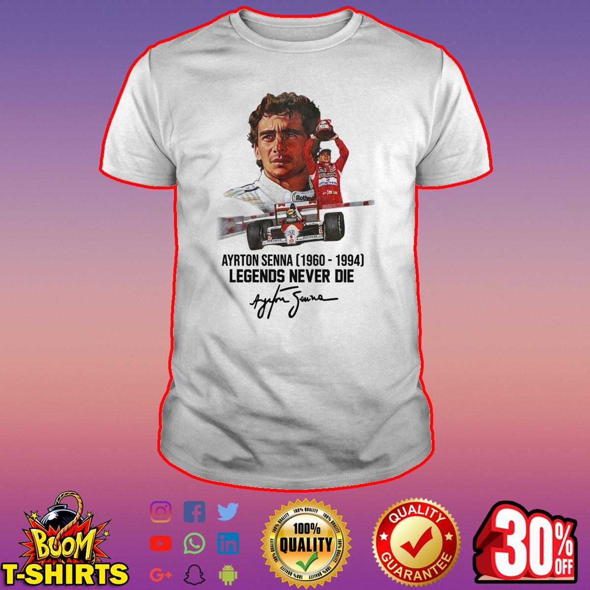 Ayrton Senna legends never die signature shirt