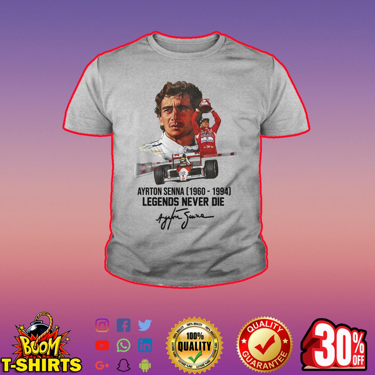 Ayrton Senna legends never die signature youth tee