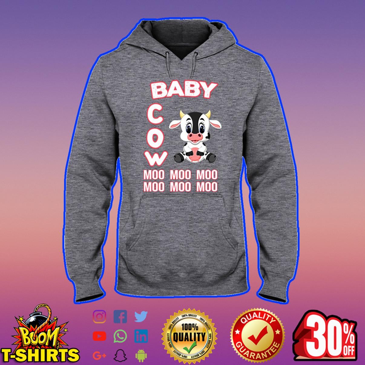 Baby cow moo moo moo hooded sweatshirt