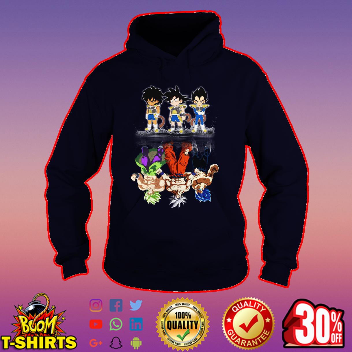 Broly Goku Vegeta Super Saiyan reflection hoodie