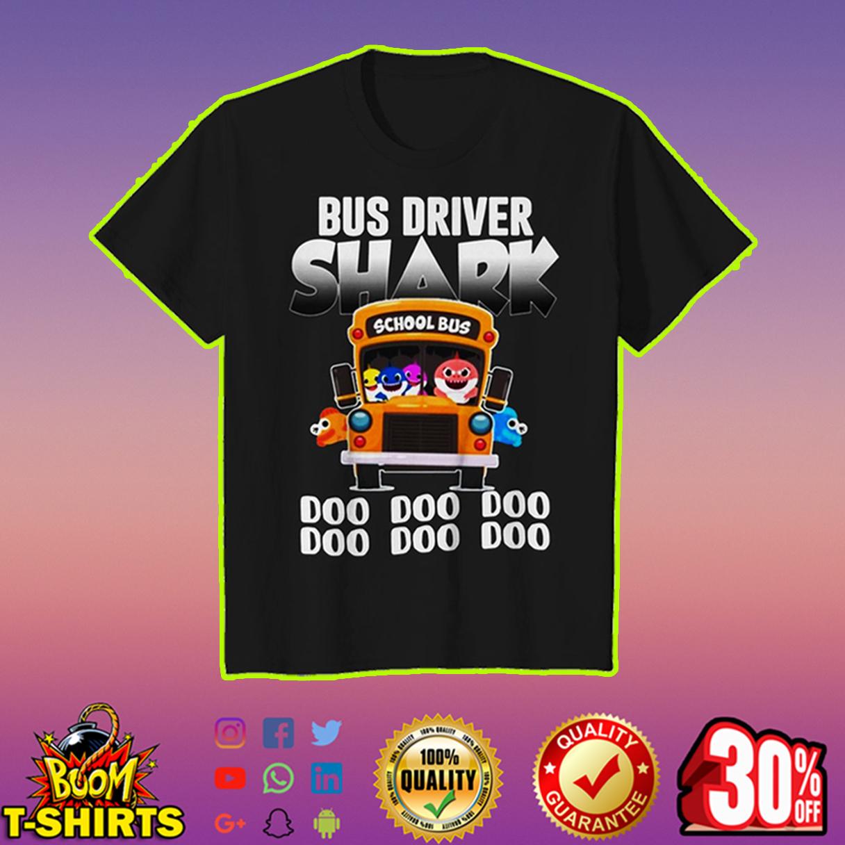 Bus driver shark doo doo doo youth tee