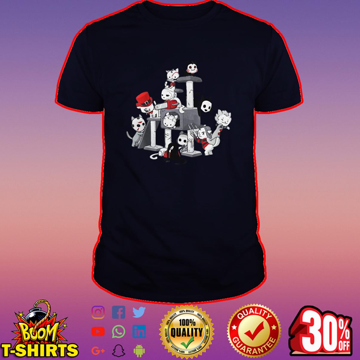 Cat horror movie characters shirt
