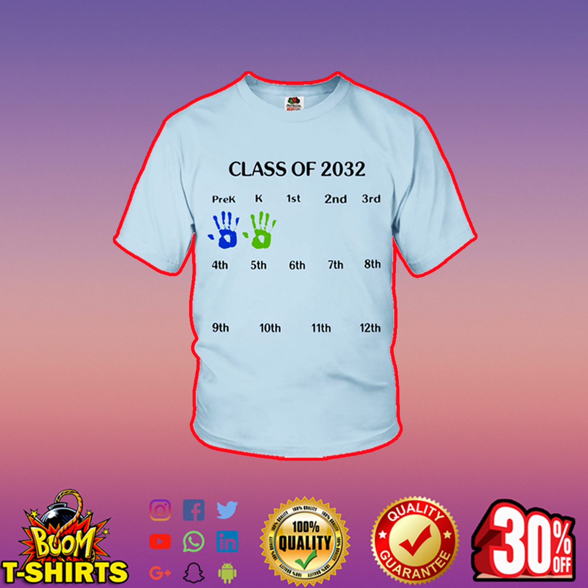 Class of 2032 youth t-shirt