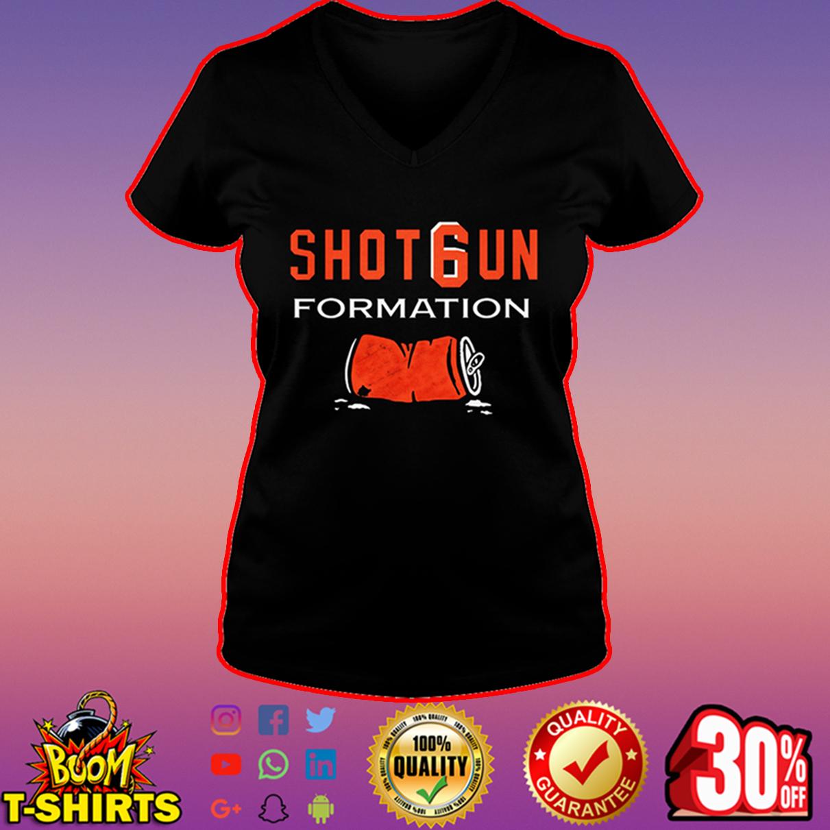 Cleveland Browns shotgun formation v-neck