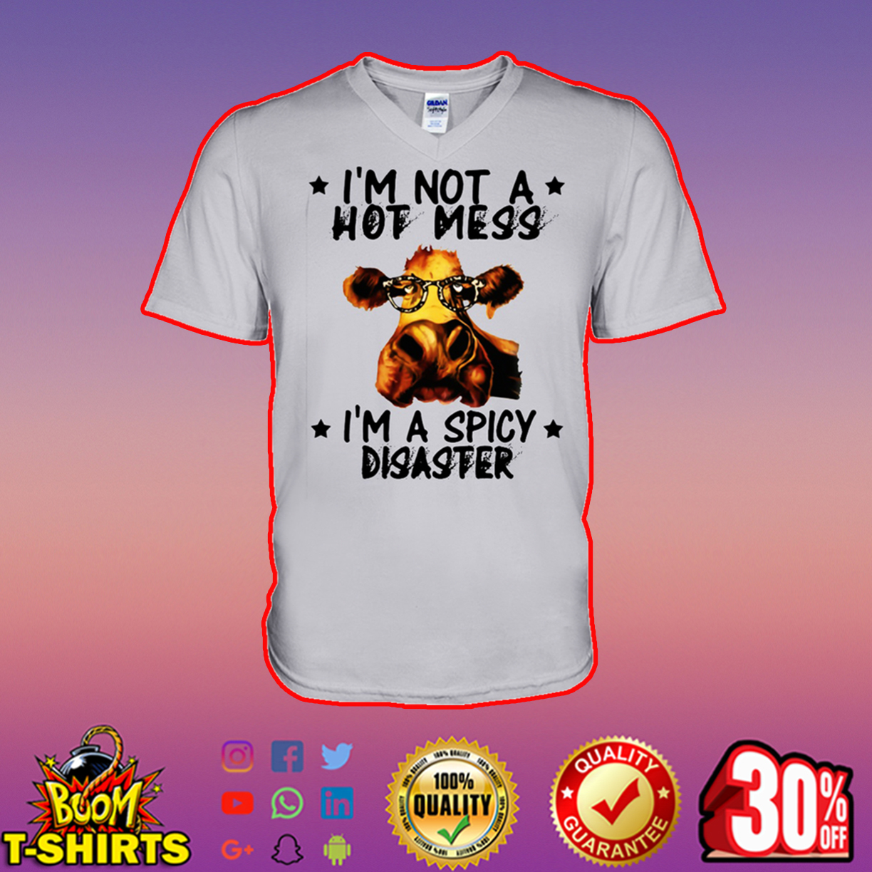 Cow I'm not a hot mess I'm a spicy disaster sweatshirt