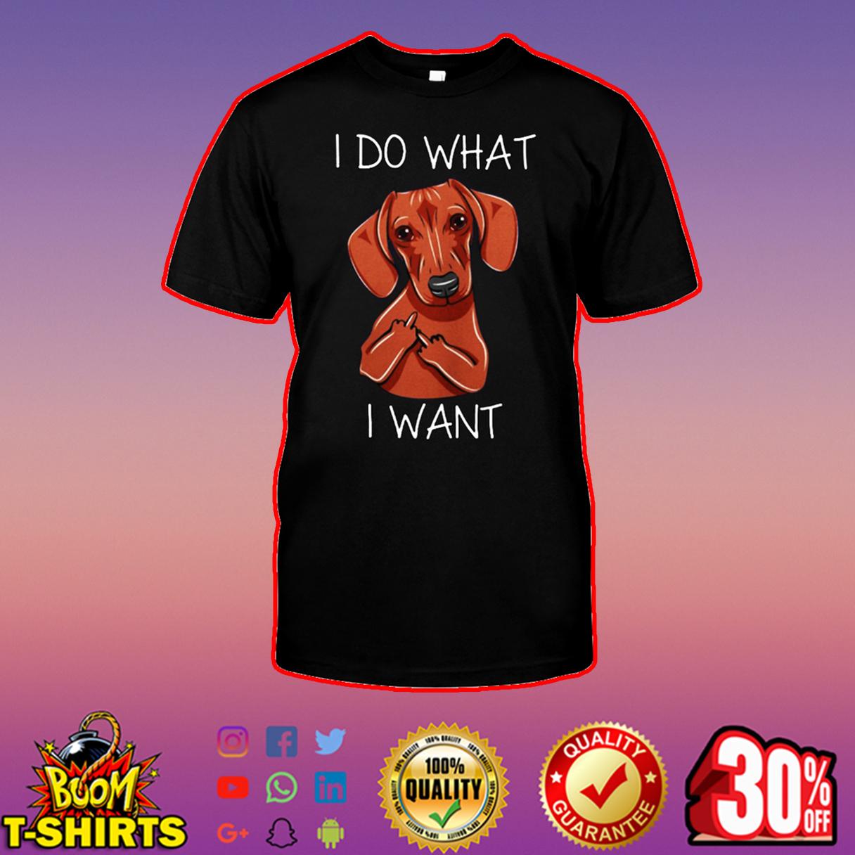 Dachshund I do what I want shirt