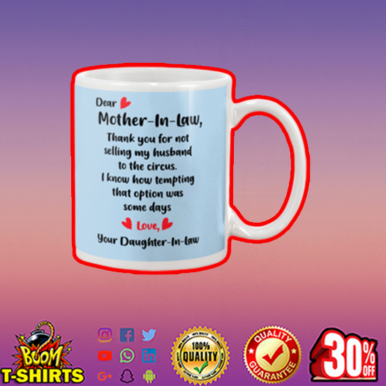 Dear mother in law mug - blue