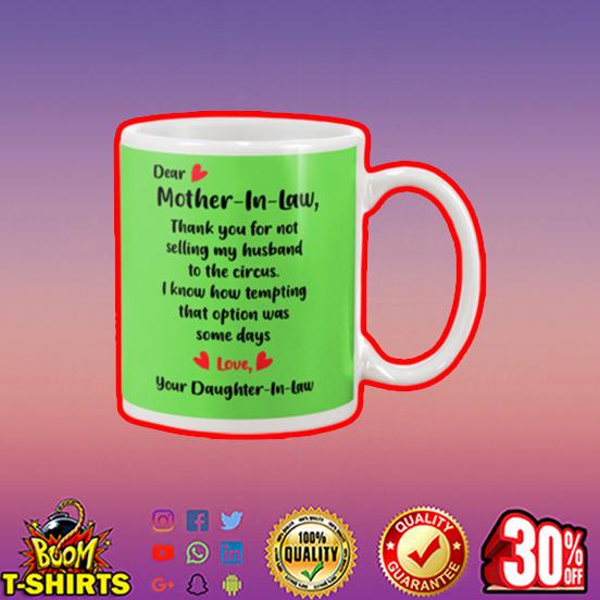 Dear mother in law mug - kiwi