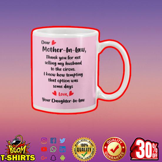 Dear mother in law mug - pink