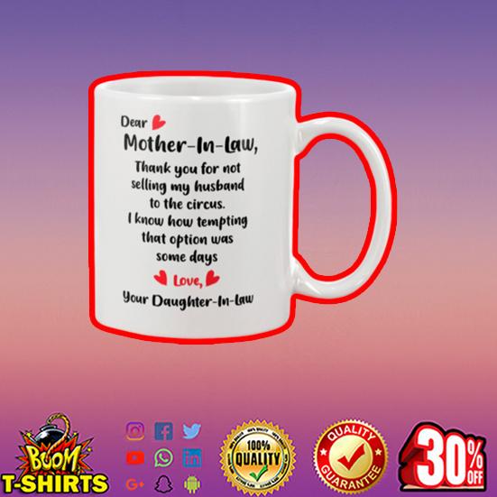 Dear mother in law mug