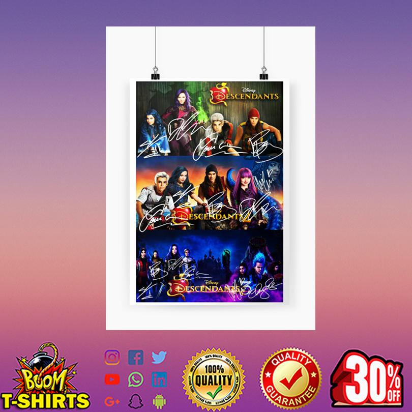 Disney Descendants all actor signature poster A4 (210 x 297mm)