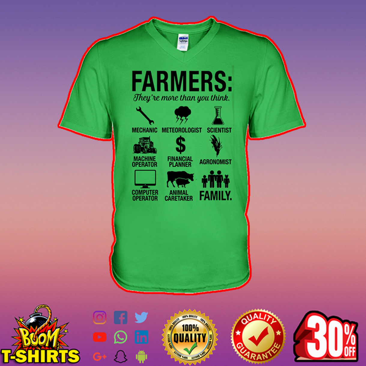 Farmers they're more than you think v-neck