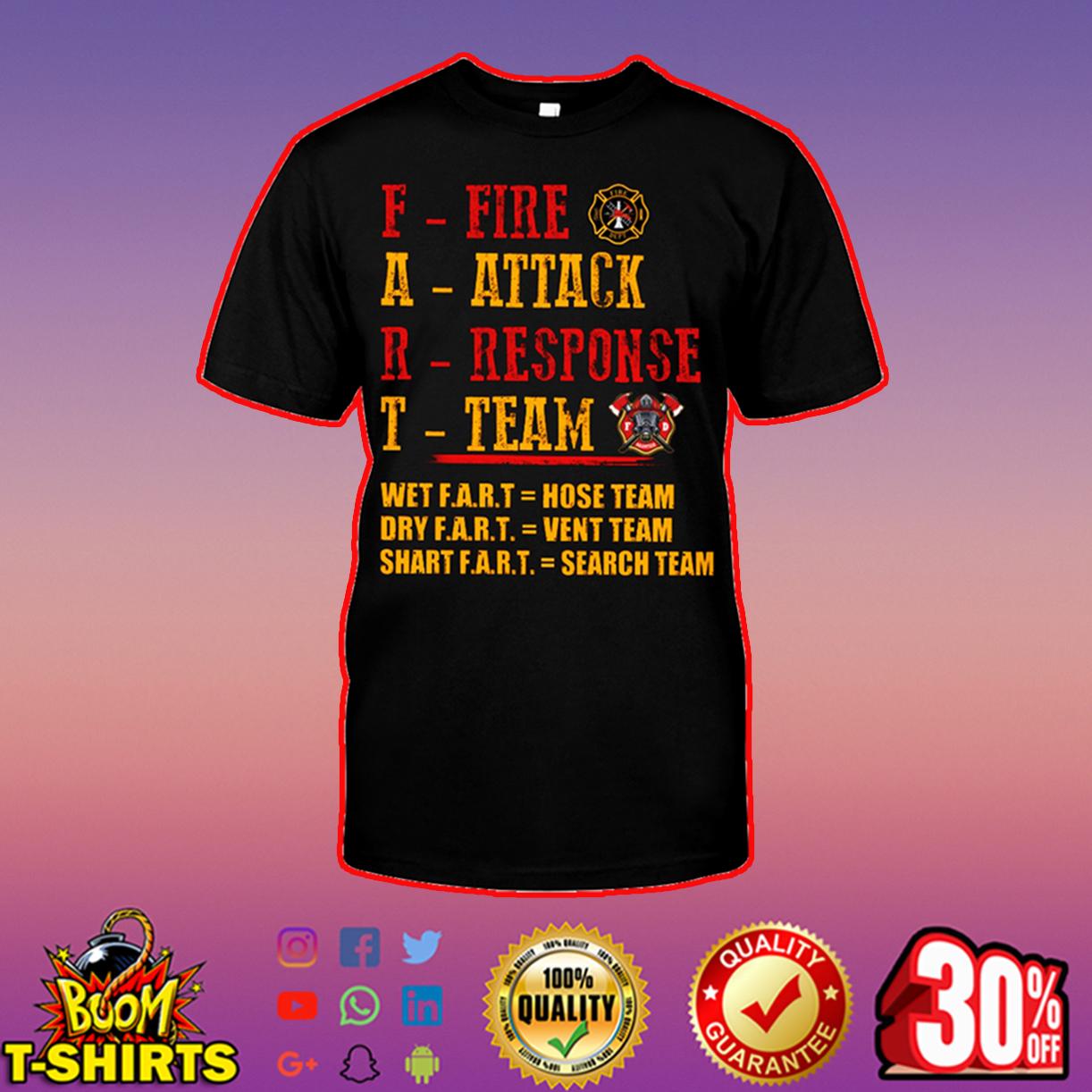 Fart fire attack response team long sleeve tee