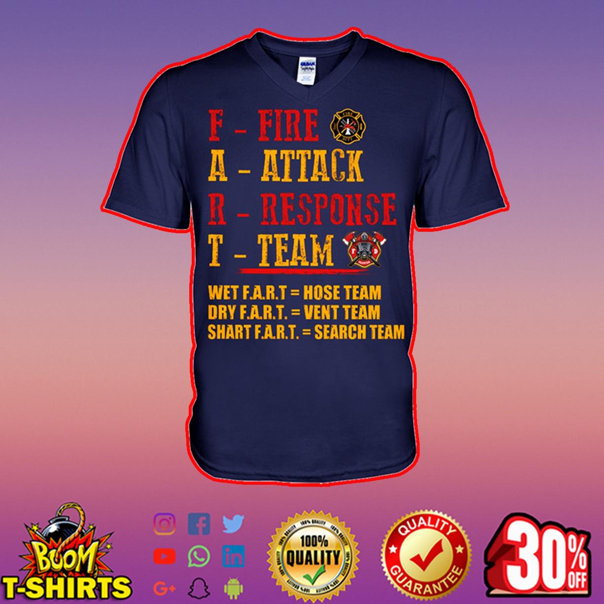 Fart fire attack response team v-neck