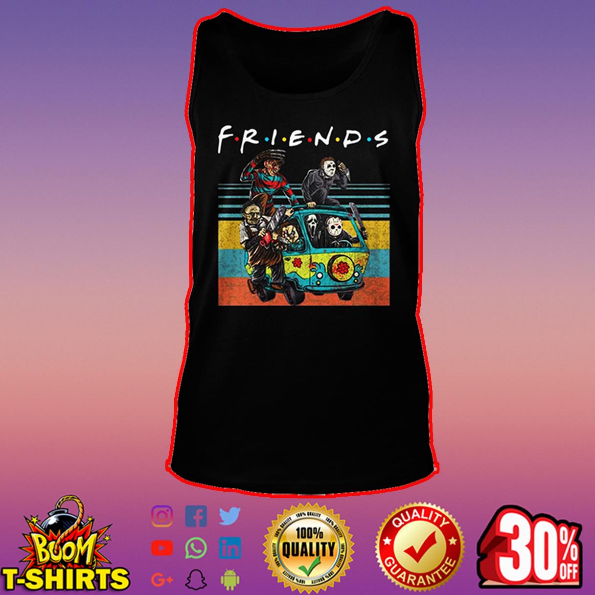 Freddy Krueger Michael Myers Leatherface Chucky Ghostface Jason Voorhees friends tank top