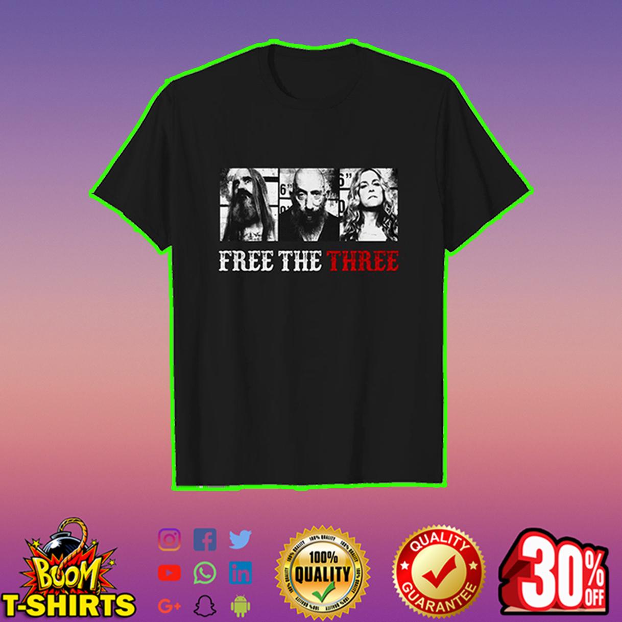 Free the three shirt