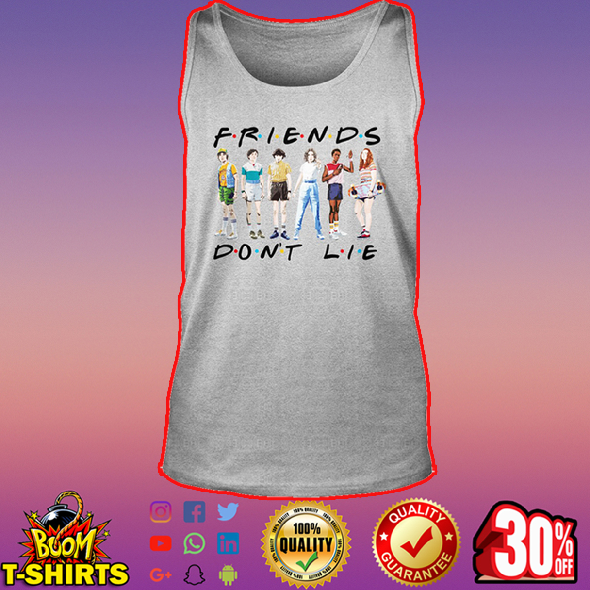 Friends don't lie Stranger Things tank top