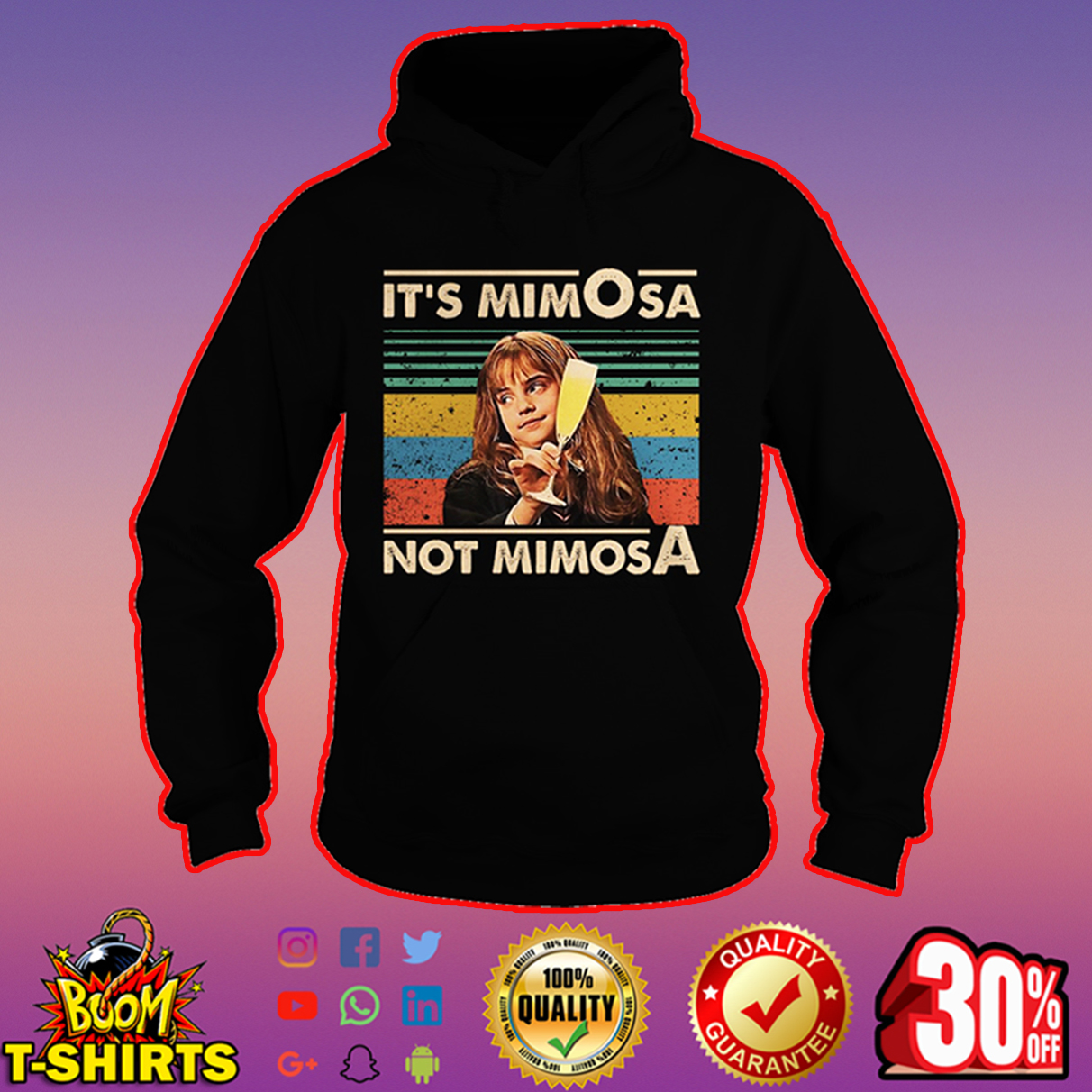 Hermione It's mimOsa not mimosA hoodie