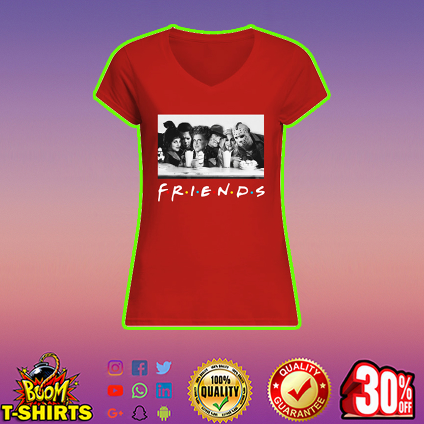 Hocus Pocus and horror movie killers halloween friends v-neck